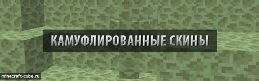 Камуфлированные скины для Minecraft